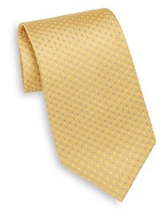 English Laundry Mini Neat Dot Silk Tie Yellow