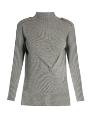 Rag And Bone Dale Wool Sweater Light Grey