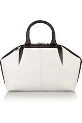 Alexander Wang Emile Doctor Two Tone Leather Tote White