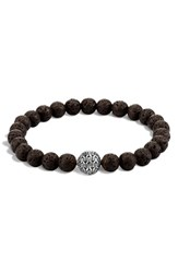 John Hardy Men's 'Classic Chain' Beaded Bracelet