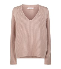 Helmut Lang Wool Cashmere V Neck Sweater Female Pink