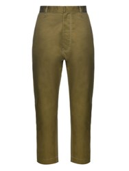 Golden Goose Straight Leg Cotton Chino Trousers Khaki