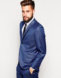 French Connection Slim Fit Suit Jacket Chambray Blue