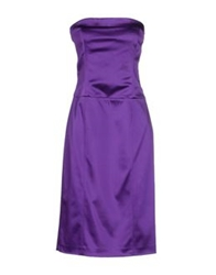 Swap Inside Knee Length Dresses Purple
