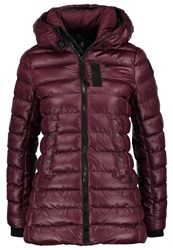 G Star Gstar Whistler Sp Hooded Slim Coat Winter Jacket Maroon Bordeaux