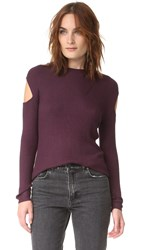 Feel The Piece Hayley Ribbed Sweater Eggplant