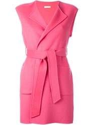 P.A.R.O.S.H. 'Lolly' Sleeveless Coat Pink And Purple