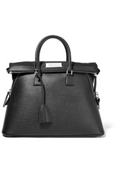 Maison Martin Margiela Maison Margiela 5Ac Large Textured Leather Tote Black