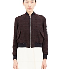 Archive Yang Li Tweed Ma 1 Bomber Black