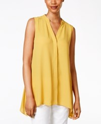 Alfani Petite Sleeveless Handkerchief Hem Top Only At Macy's Alf Gold Maize
