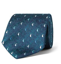 Turnbull And Asser 8Cm Paisley Silk Jacquard Tie Emerald