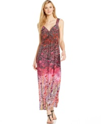 Spense Petite Twist Front Printed Maxi Dress Ethnic