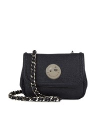 Hill And Friends Navy Leather Happy Chain Bag