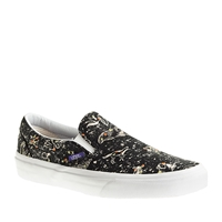 J.Crew Unisex Vans Classic Slip On Sneakers In Liberty Zodiac Zodiac Black