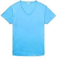 Orlebar Brown Ob V Cotton Jerey T Hirt Blue