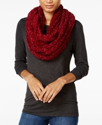 Charter Club Velvety Marled Chenille Infinity Loop Scarf Only At Macy's Mulberry Spice
