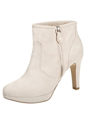 S.Oliver High Heeled Ankle Boots Ivory Beige