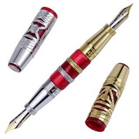 Visconti Alchemy Vermeil Limited Edition Sterling Silver Fountain Pen Red