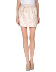 M.Grifoni Denim Mini Skirts Light Pink