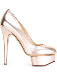 Charlotte Olympia 'Dolly' Platform Pumps Pink And Purple