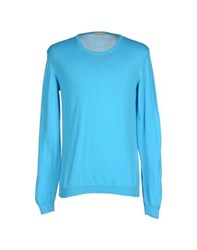 Roberto Collina Knitwear Jumpers Men Turquoise