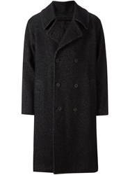 08Sircus Boucle Double Breasted Coat Black