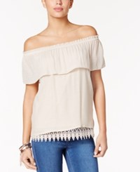 Thalia Sodi Off The Shoulder Peasant Top Only At Macy's Sand