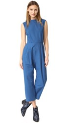 Sea Tied Back Jumpsuit Blue