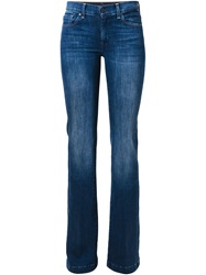 7 For All Mankind Flared Skinny Jeans Blue