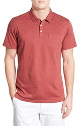 Men's 1901 Heathered Jersey Trim Fit Pocket Polo Red Sailor