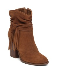 Jessica Simpson Sesley Suede Tassel Accent Boots Brown