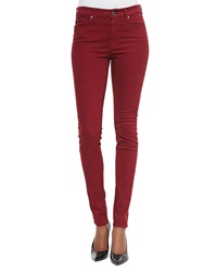 7 For All Mankind Mid Rise Skinny Jeans Cranberry Red