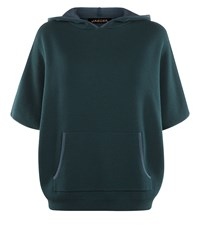 Jaeger Double Faced Wool Hooded Cape Green
