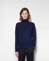 Blue Blue Japan Turtleneck Top Navy