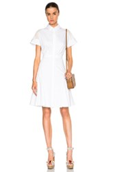 Prabal Gurung Cotton Shirt Dress In White