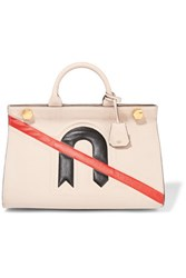 Anya Hindmarch Ephson Textured Leather Tote Taupe