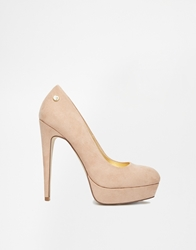 Blink Platform Heeled Shoes Nude