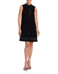 Karl Lagerfeld Collared Lace Shift Dress Black