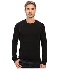 Royal Robbins Go Everywhere Long Sleeve Merino Crew Jet Black Men's Clothing