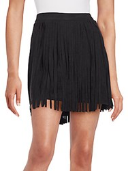 Bb Dakota Sueded Fringe Mini Skirt Black