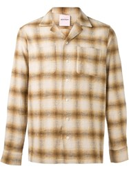 Palm Angels Checked Shirt Nude And Neutrals