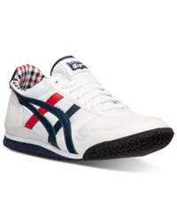 Asics Men's Ultimate 81 Casual Sneakers From Finish Line White Navy Red Plaid