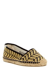 Soludos Woven Raffia Low Cut Slip On Yellow