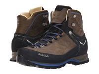 Salewa Mountain Trainer Mid L Walnut Royal Blue Men's Shoes Brown