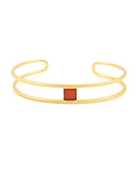 Gerard Yosca 18K Gold Plated Open Cuff Red
