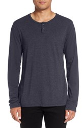 Michael Stars Men's Knit Henley Nocturnal