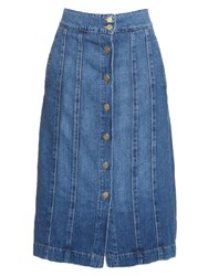 Frame Denim Le Panel Midi Denim Skirt
