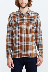 Levi's Rustic Plaid Button Down Workshirt Dark Orange