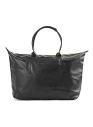 Topman Mi Pac Leather Look Weekender Bag Black