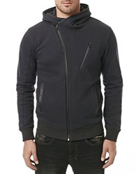 Buffalo David Bitton Asymmetrical Zip Hoodie Black